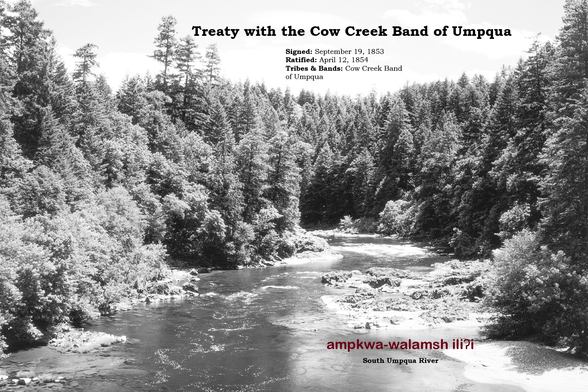 Umpqua Cow Creek Treaty 1853